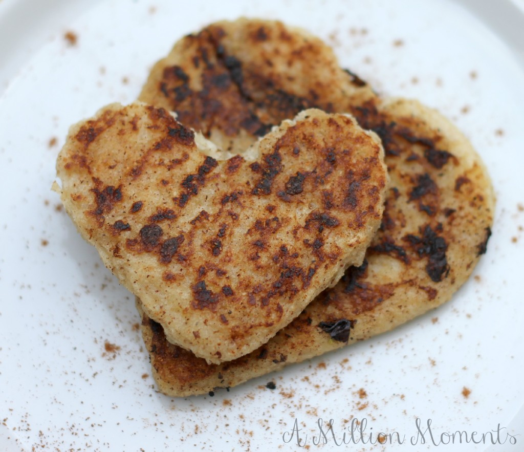 heart shaped french toast