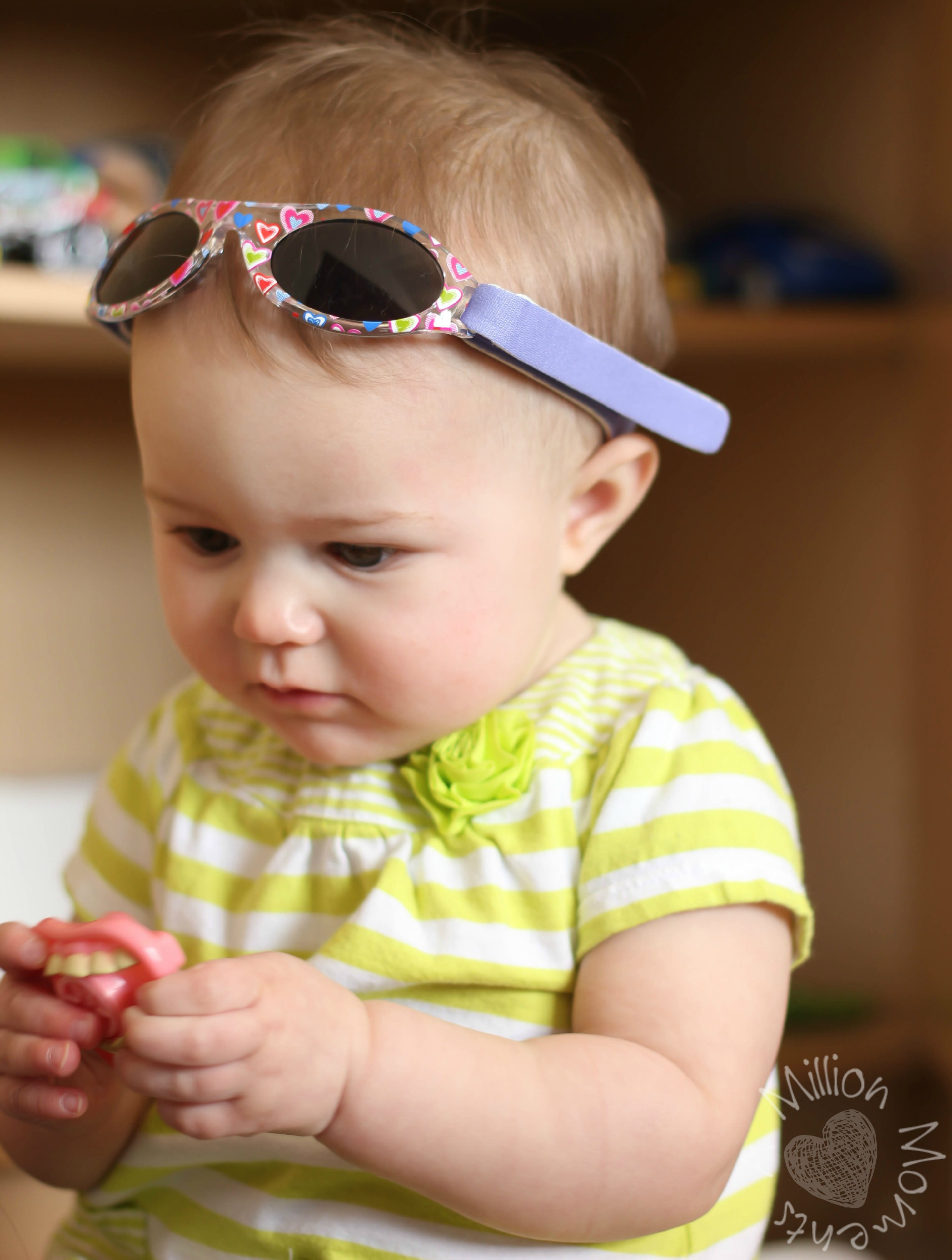 314ad00162 Sunglasses that have an adjustable strap are ideal for babies and younger  children (0-24 months). Make sure the strap is made of soft