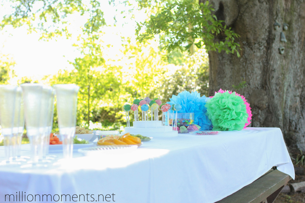 Outdoor garden party with simple decor