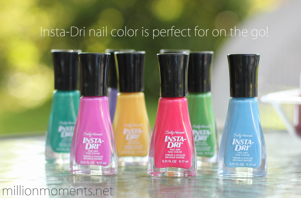 Sally Hansen Insta-Dri for color blocking #iheartmynailart
