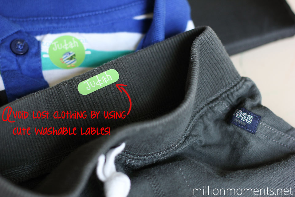 Kiddo Tags clothing labels help avoid lost items.