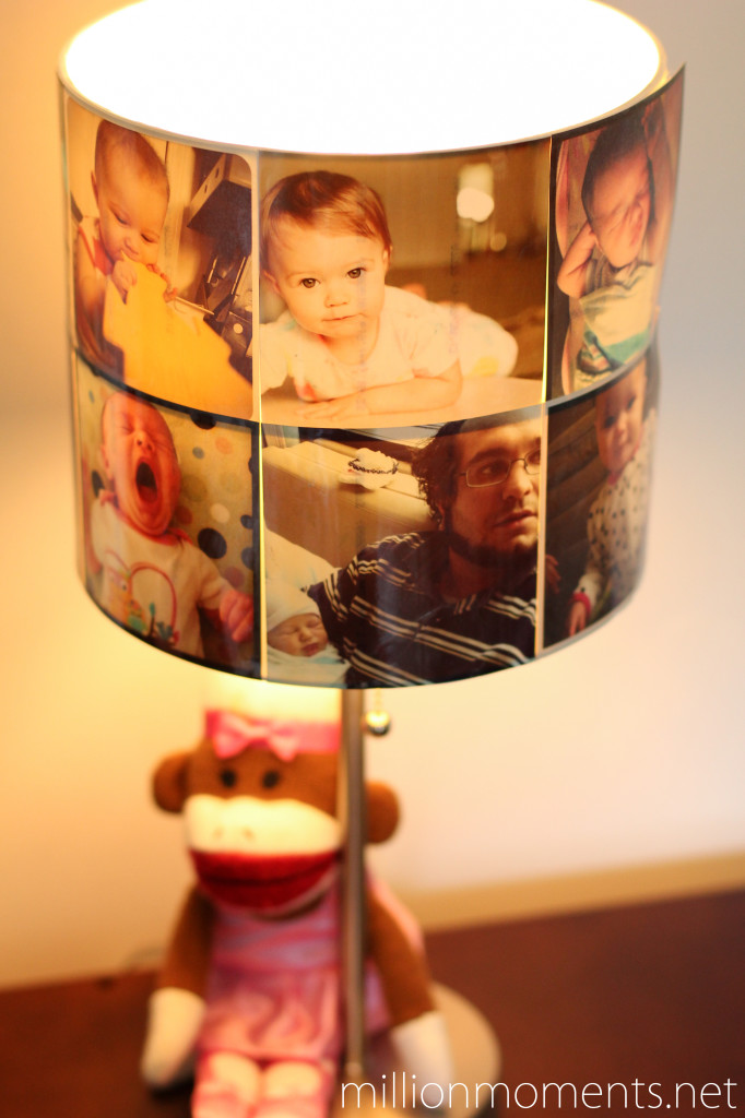 How to print photos using the #WalgreensApp and make a lampshade.  #shop