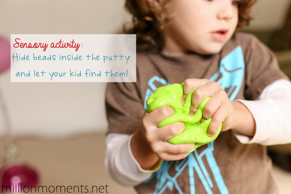 Sensory activities with putty