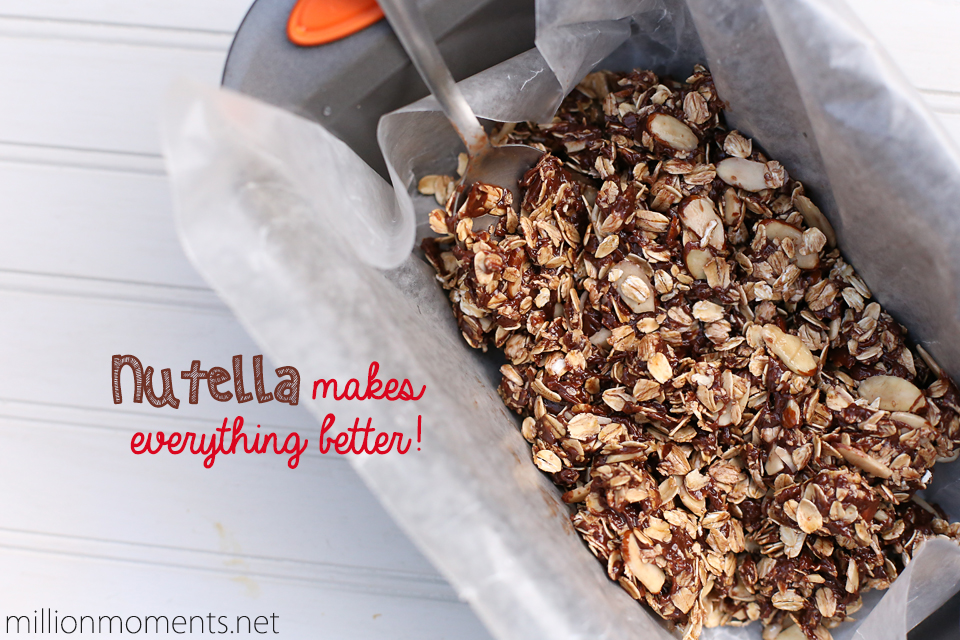 Easy no bake Nutella granola bars