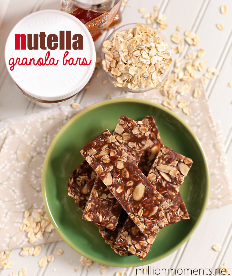 Nutella granola bar recipe