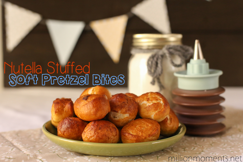 Nutella stuffed soft pretzels