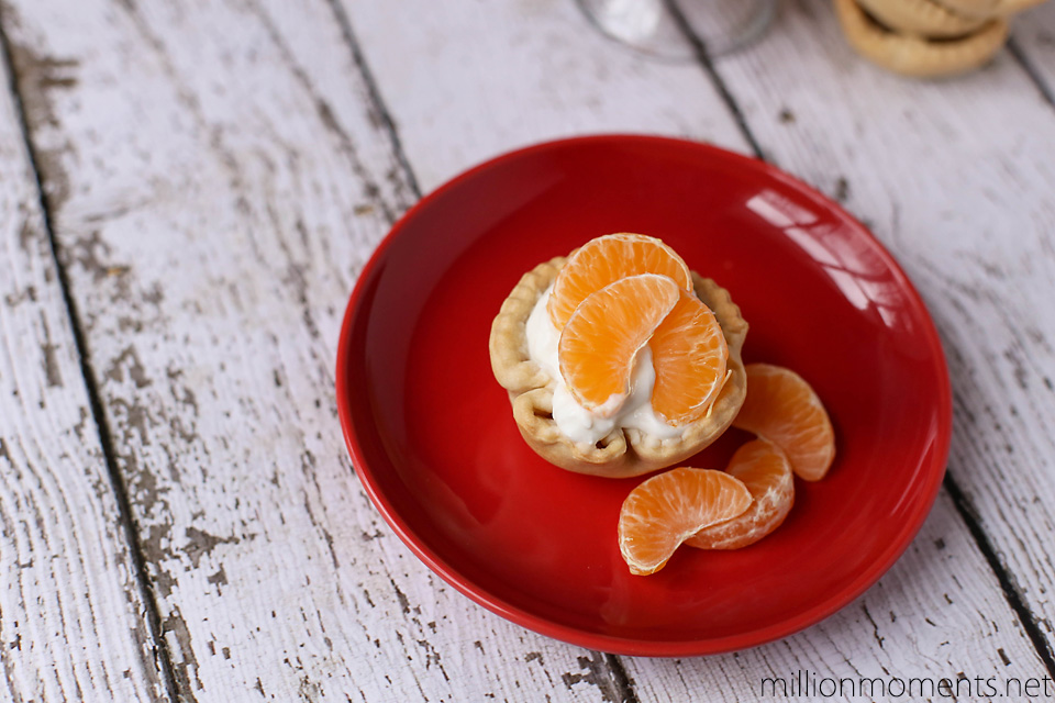 Mini orange yogurt bites