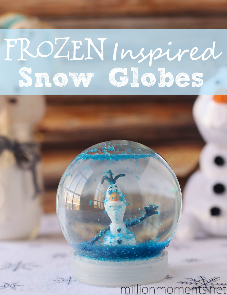 Christmas Traditions And A Snow Globe DIY Inspired By Disney's FROZEN.