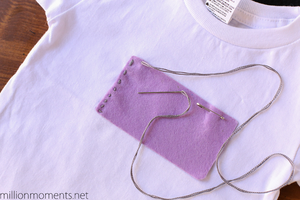 Felt camera applique shirt