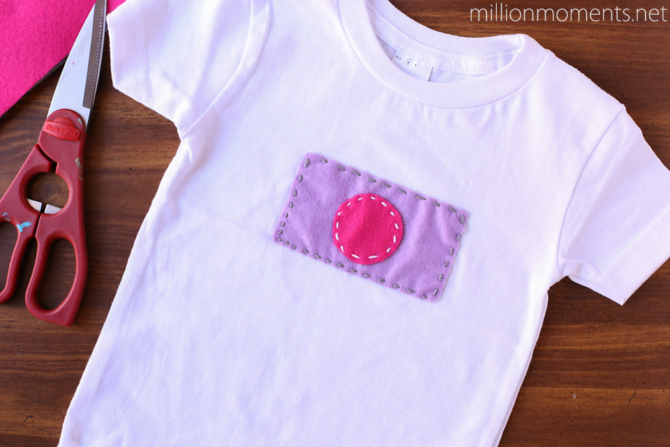 Felt applique toddler shirt