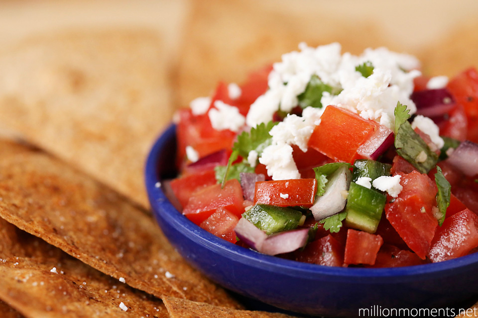 easy pico with goat cheese