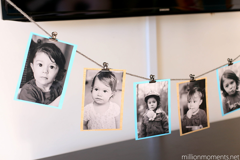 Easy Photo Banner awesome home decor tutorial #shop