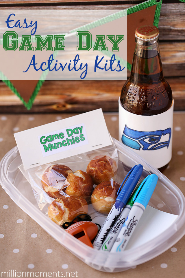 Easy game day activity kits for kids