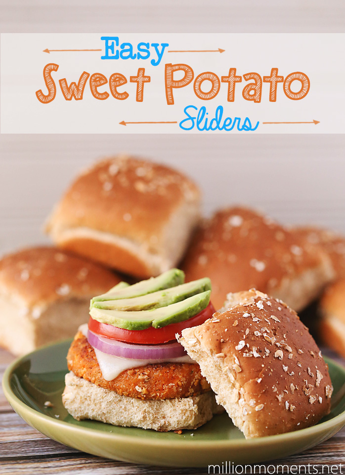 Easy sweet potato veggie burgers