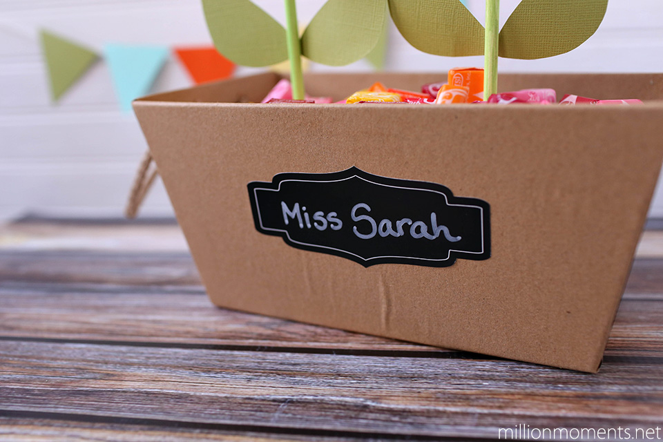 Cute DIY planter box with Skittles #shop