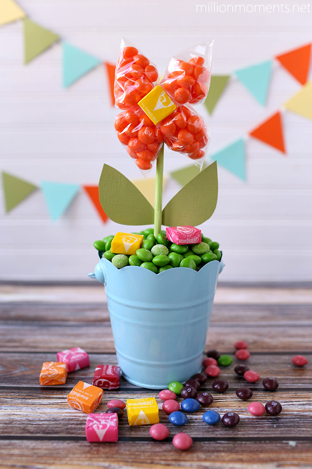 Spring candy flower pot creation DIY #shop