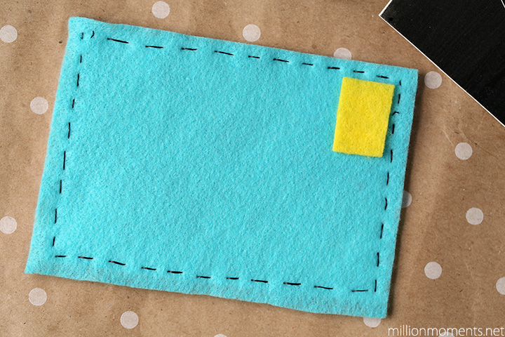 Easy felt postcard craft