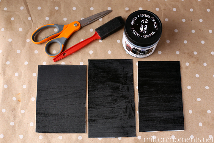 Felt chalkboard postcard DIY craft tutorial