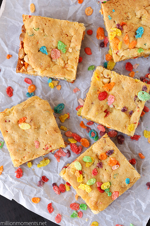 Blondie recipe with fruity pebbles #pmedia