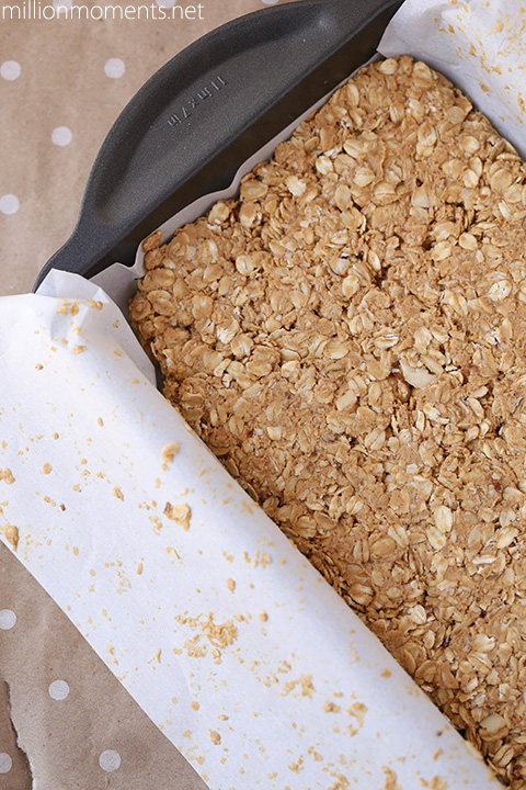 Easy peanut butter granola bar recipe #shop