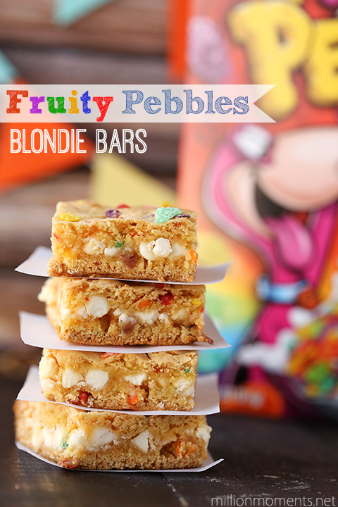 Fruity Pebbles cake batter bars #pmedia