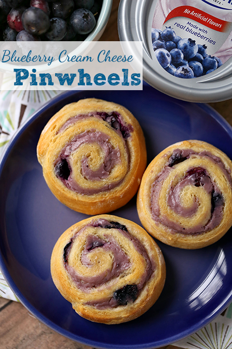 Philly cream cheese blueberry pinwheel recipe #shop