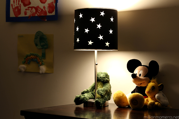 easy star lamp tutorial with GE Energy Smart bulbs #shop