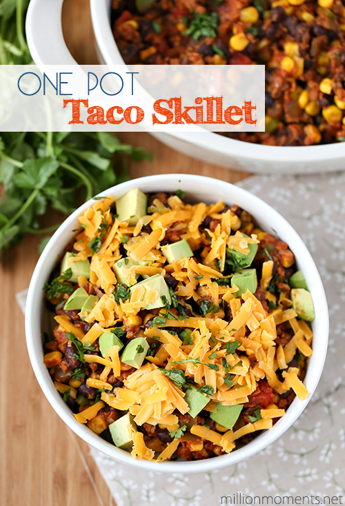 Easy one pot taco skillet recipe