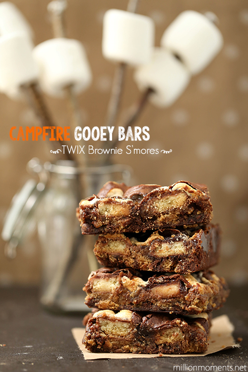 Make yummy s'mores bars with TWIX bites! #shop
