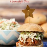 Easy BBQ {Veggie} Sliders With Slaw