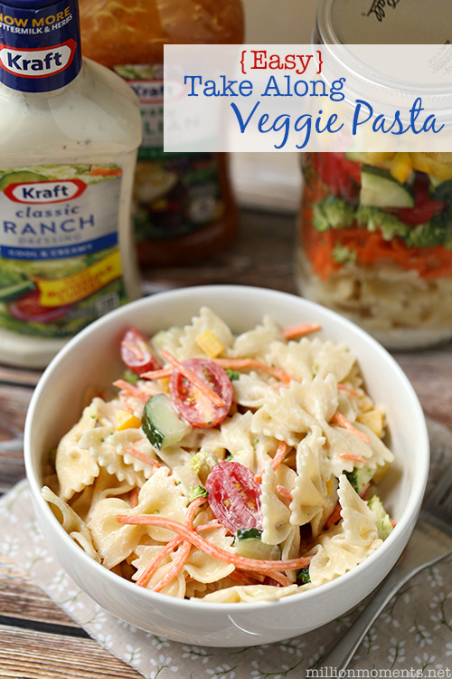 This easy pasta salad recipe is great for moms on the go!