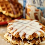 Hazelnutty Cinnamon Roll Waffles