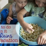 What To Do When It Rains On Vacation {& Rainbow Butterscotch Popcorn Recipe}
