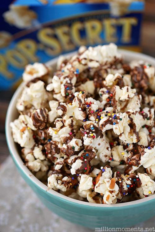 Easy Rainbow Butterscotch Popcorn