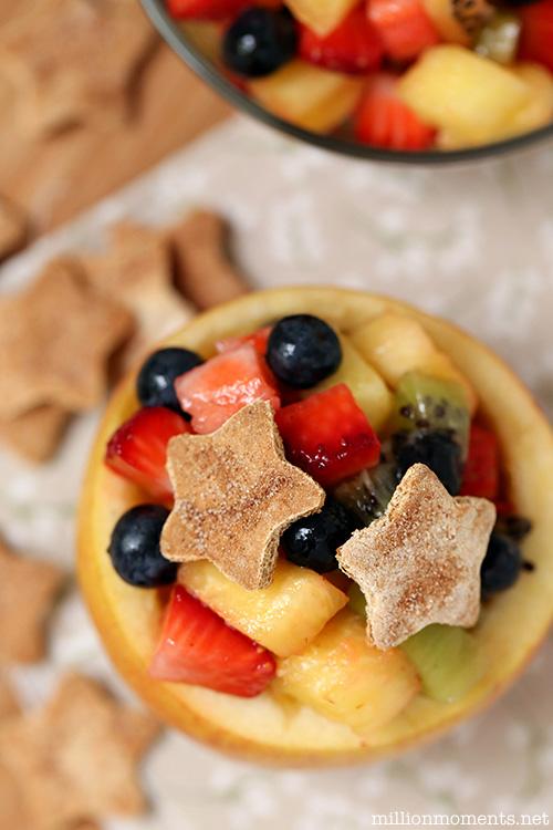 Easy Cinnamon Fruit Cup {12 Bloggers Back To School Snacks!}