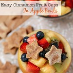 Easy Cinnamon Fruit Cup {12 Bloggers Back To School Snacks!}