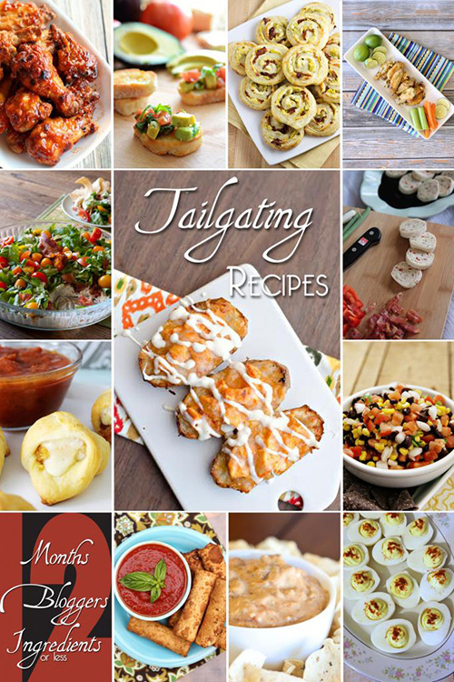 12 Bloggers tailgating recipes