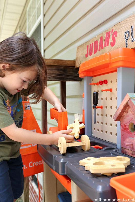 Fun DIY workshop for kids with the Step2 Handyman workbench