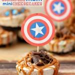 Caramel M&M® Cheesecake Bites {Recipe}