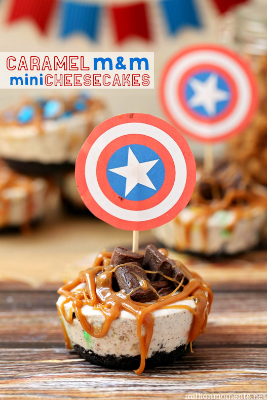 Easy no bake caramel M&M cheesecake recipe
