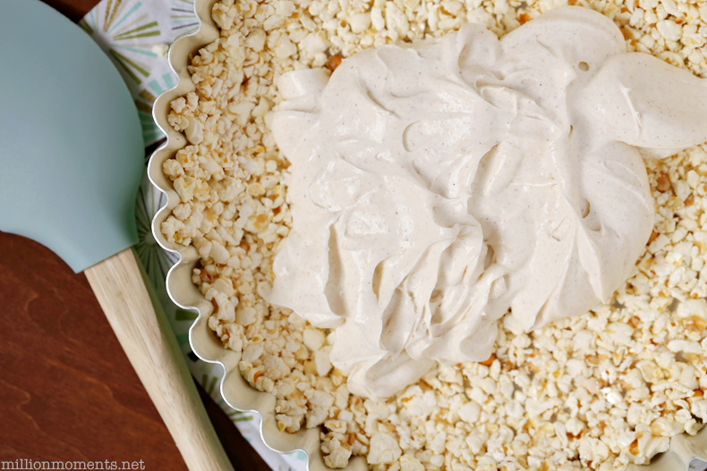 Fruit tart with popcorn crust