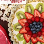 Skinny Popcorn Crusted Fruit Tart