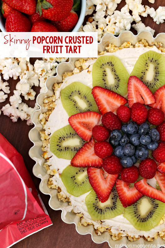 Easy popcorn fruit tart recipe