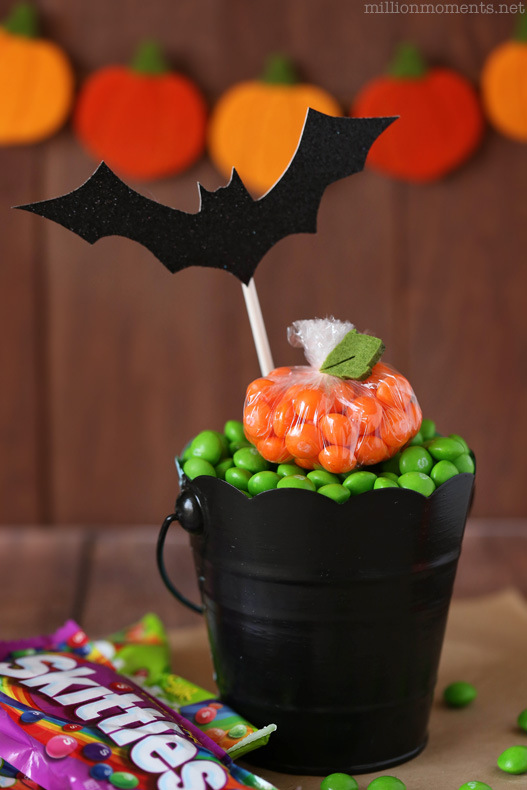 Easy pumpkin patch candy gift DIY