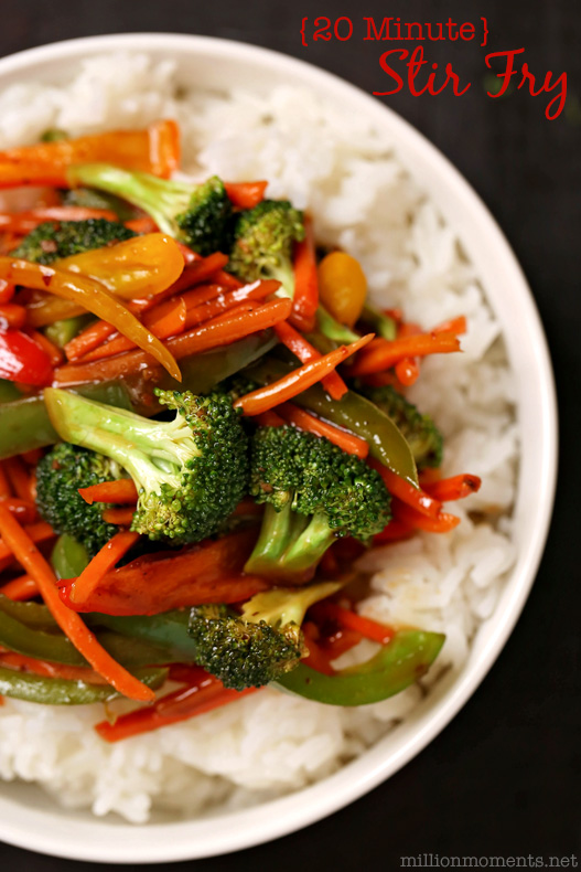 Quick and easy veggie stir fry recipe
