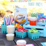 Rainbow Paint Party With A Fun Snacking Station