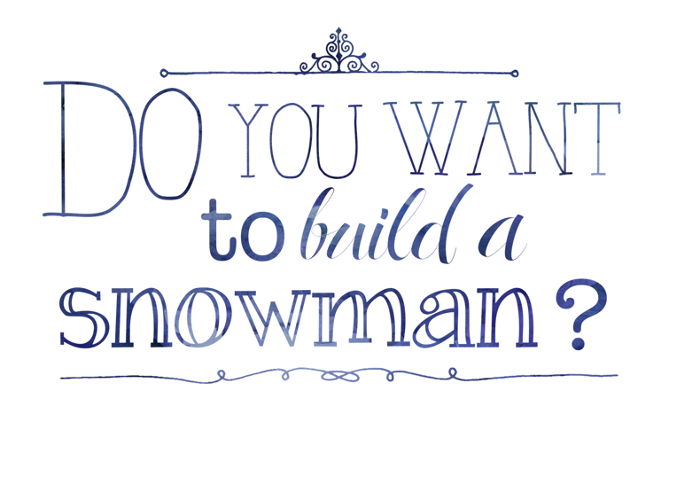Monster image in do you want to build a snowman printable