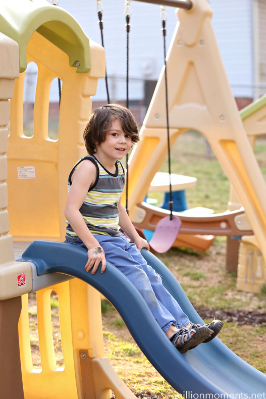 Outdoor Play and Choosing A Swing Set {WIN a Step2 Play Up Gym Set!}