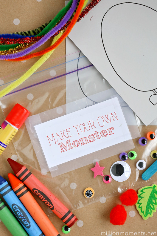 Road trip crafts for kids. Have fun on the road with a busy box!