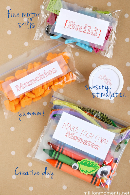 Road trip crafts for kids. Have fun on the road with a DIY busy box!